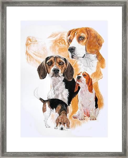 Beagle Hound Medley Framed Print