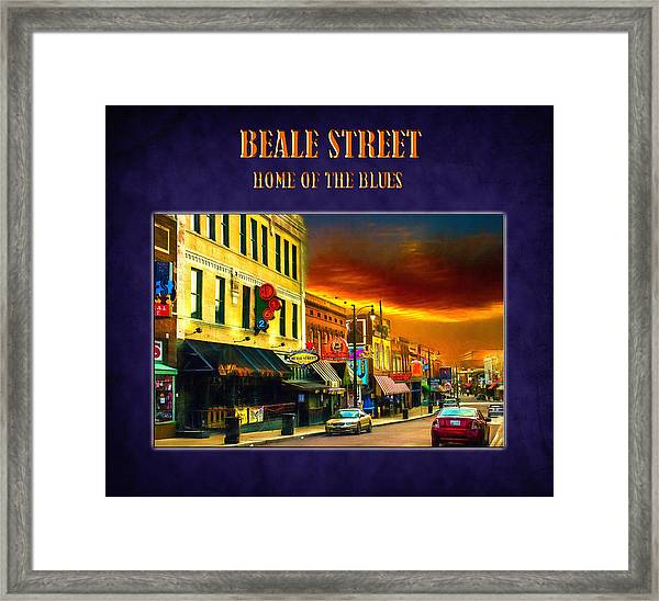 Beale Street - Home Of The Blues Framed Print
