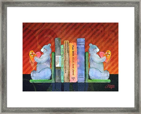 Bear Bookends Framed Print