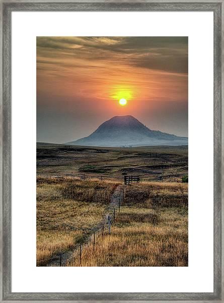 Bear Butte Smoke Framed Print