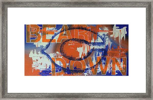 Bear Down Framed Print