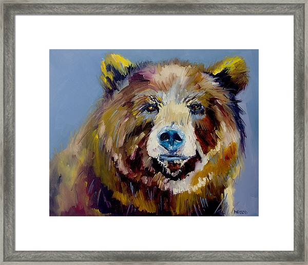 Bear Exposed Framed Print