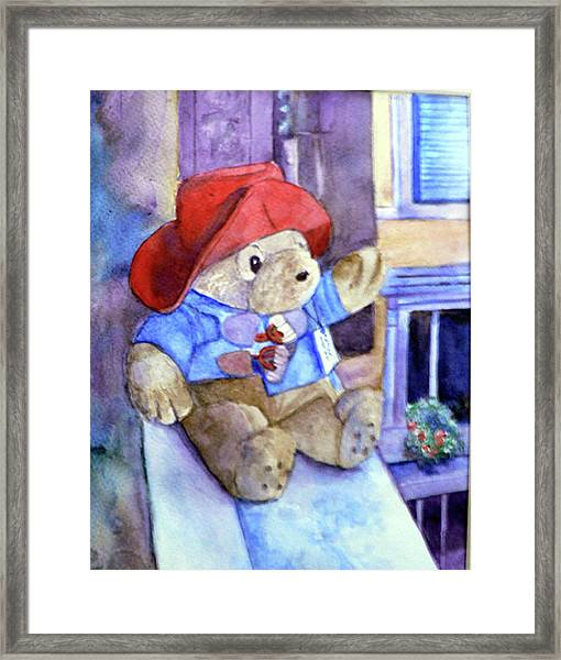 Bear In Venice Framed Print