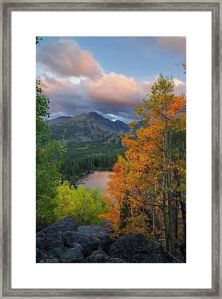 Bear Lake Autumn Framed Print