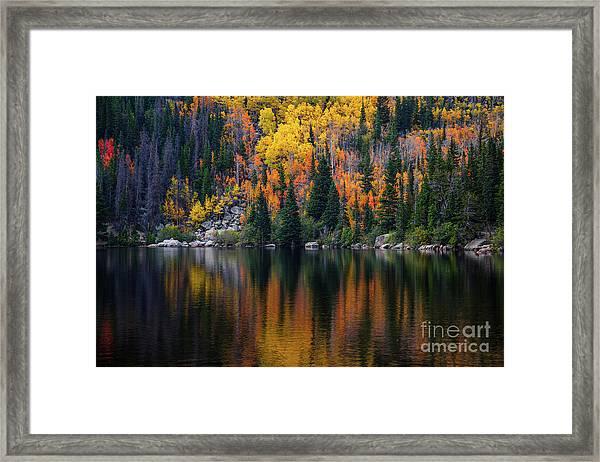 Bear Lake Autumn Reflections Framed Print