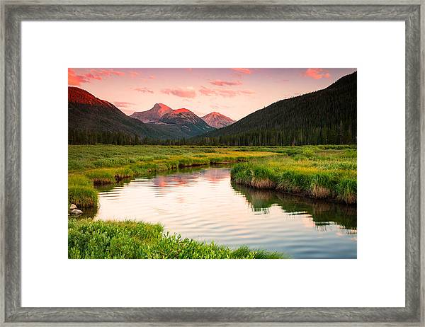 Bear River Sunset Framed Print