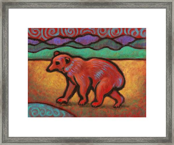Bear Totem Animal Framed Print