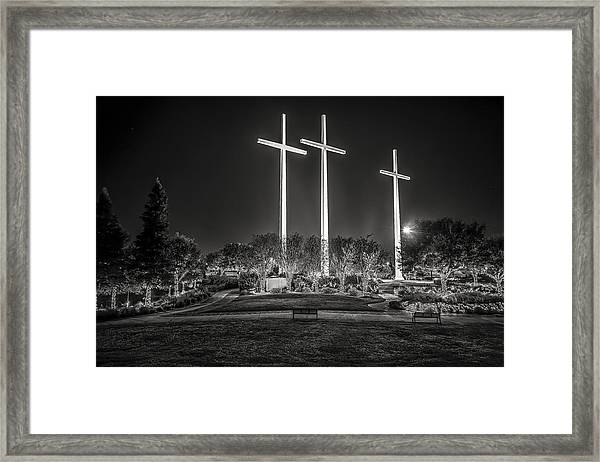 Bearing Witness In Black-and-white 2 Framed Print