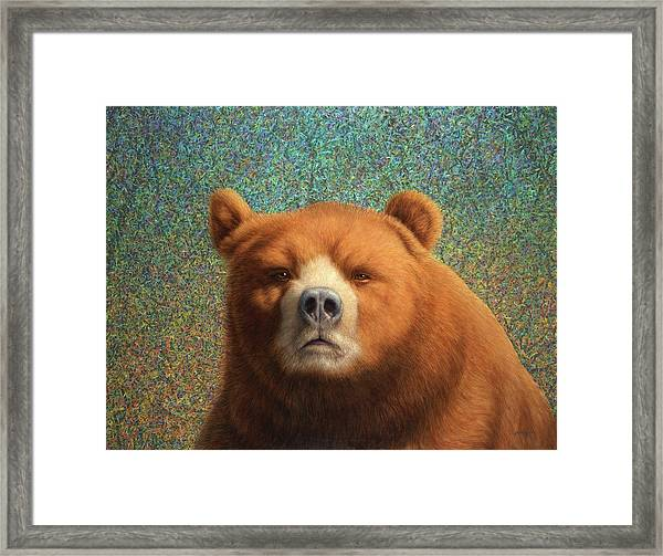 Framed Print featuring the painting Bearish by James W Johnson