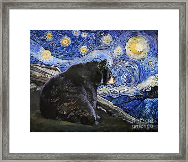Beary Starry Nights Framed Print