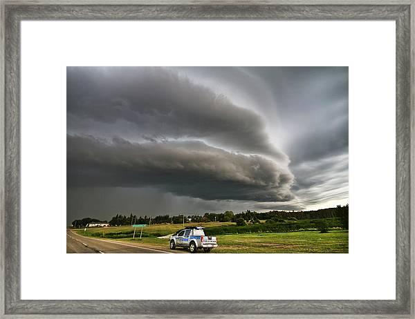 Beast Over Yorkton Framed Print