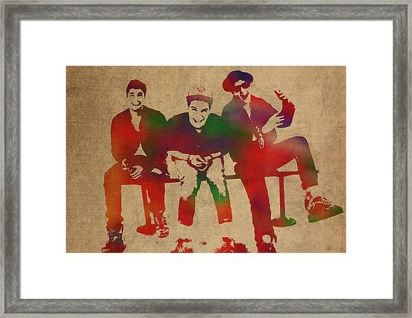Beastie Boys Watercolor Portrait Framed Print