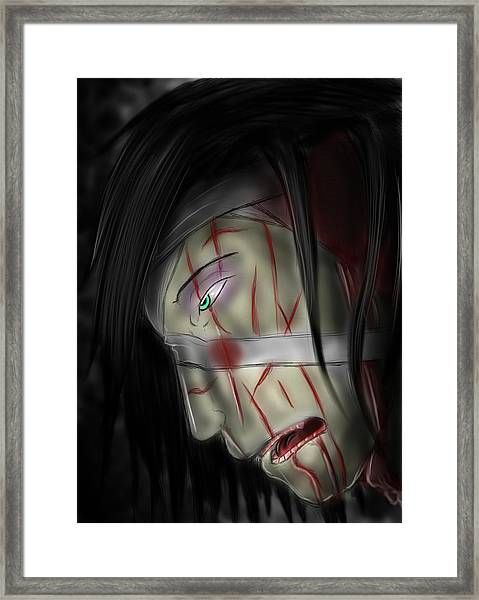 Beaten And Defeated Framed Print by Nicholas Sharpe