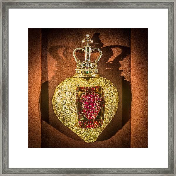 Beating Heart Brooch Salvador Dali Framed Print