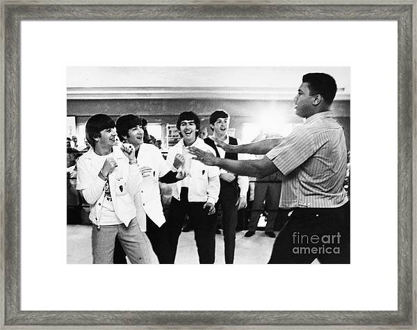 Beatles And Clay, 1964 Framed Print