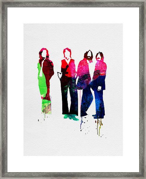 Beatles Watercolor Framed Print