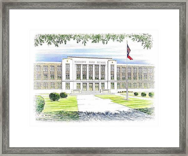 Beaumont High School Framed Print