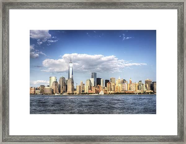 Beautiful Big Apple Framed Print by Zev Steinhardt