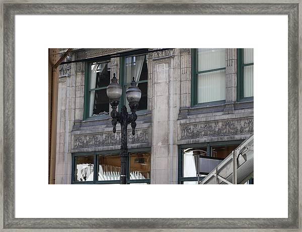 Beautiful Chicago Gothic Grunge Framed Print