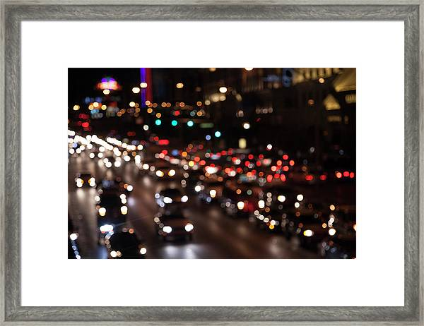 Beautiful Congestion Framed Print