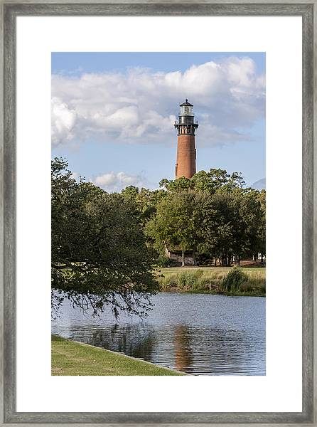 Beautiful Day At Currituck Beach Lighthouse Framed Print