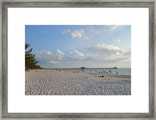 Beautiful Day On Naples Beach Naples Florida Framed Print