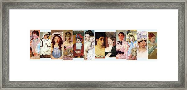 Beautiful Faces Framed Print