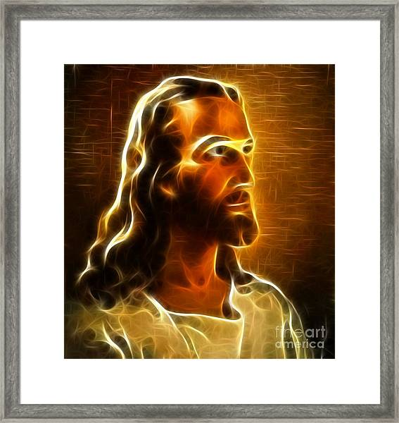 Beautiful Jesus Portrait Framed Print