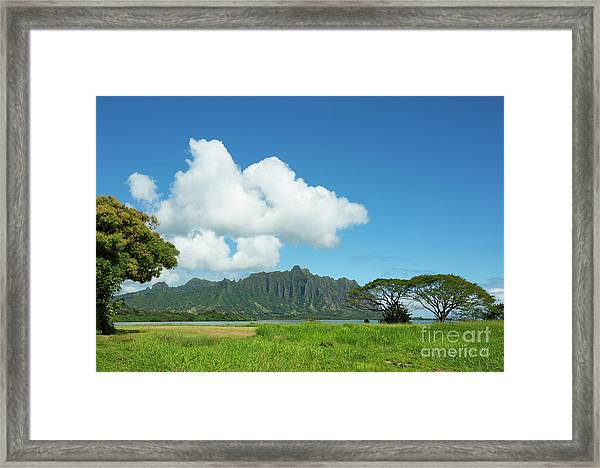 Beautiful Kualoa Ridge Framed Print