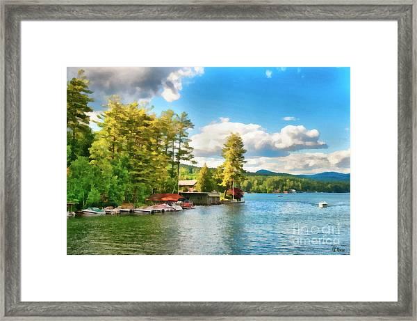 Beautiful Lake George New York Framed Print by Anne Kitzman