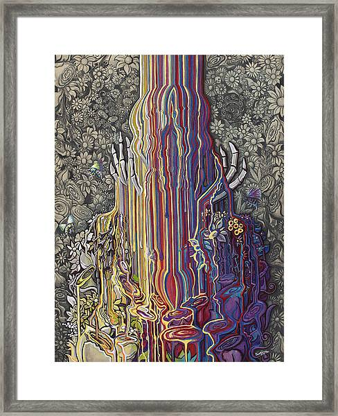 Beautiful Meltdown Framed Print