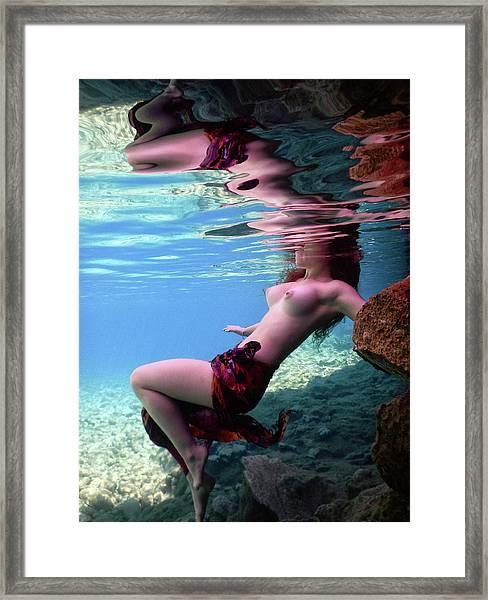 Beautiful Mermaid Framed Print