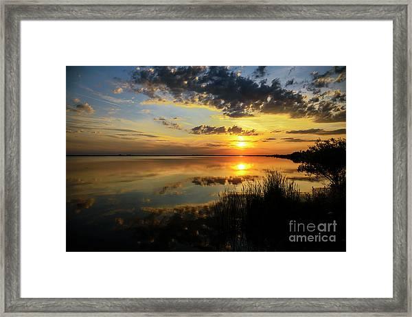 Beautiful Sunset At The Lake Framed Print