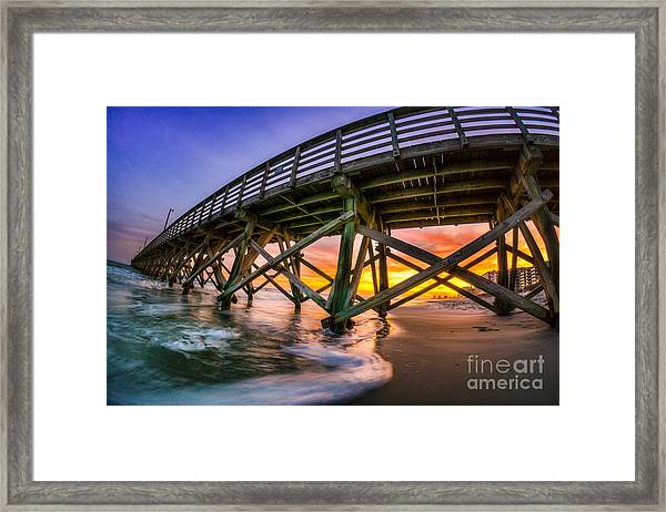Beautiful Sunset In Myrtle Beach Framed Print