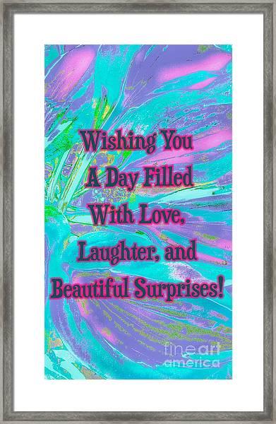 Beautiful Surprises Framed Print
