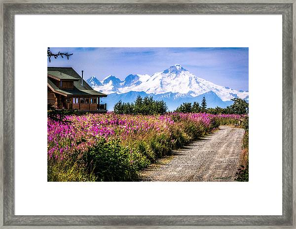 Framed Print featuring the photograph Beautiful View Of A Scary Mountain by Claudia Abbott