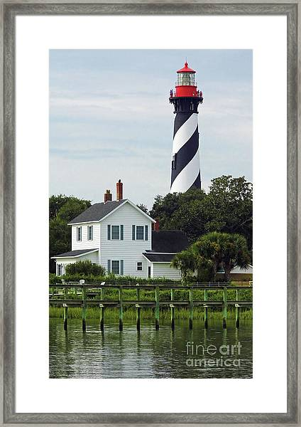 Beautiful Waterfront Lighthouse Framed Print