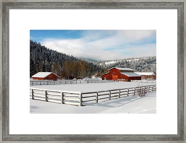 Beautiful Winter Morning Framed Print