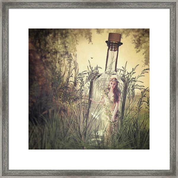 Beauty In A Bottle Framed Print