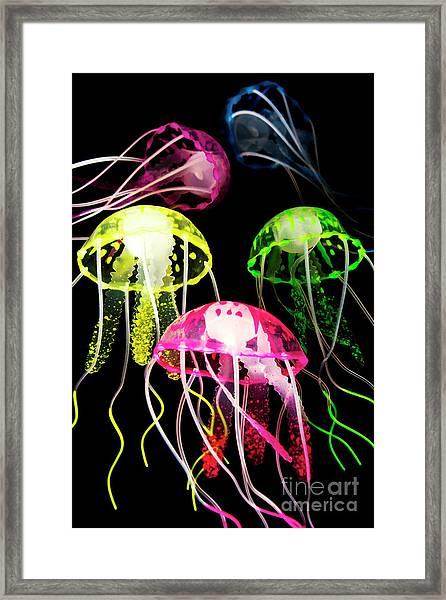 Beauty In Black Seas Framed Print