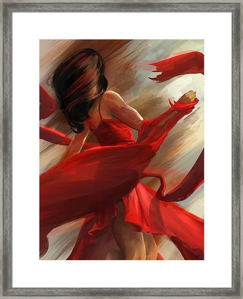 Beauty In Motion Framed Print