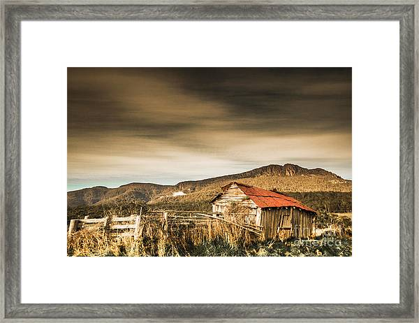 Beauty In Rural Dilapidation Framed Print