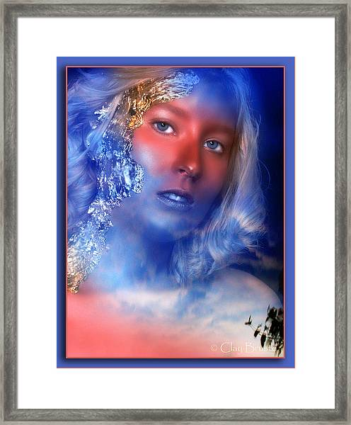 Beauty In The Clouds Framed Print