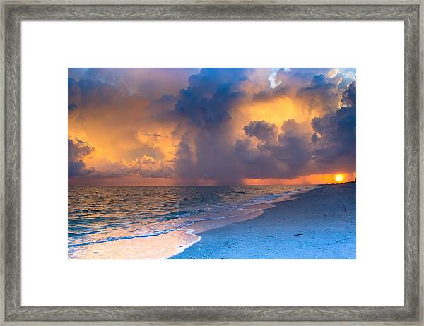 Beauty In The Darkest Skies Framed Print