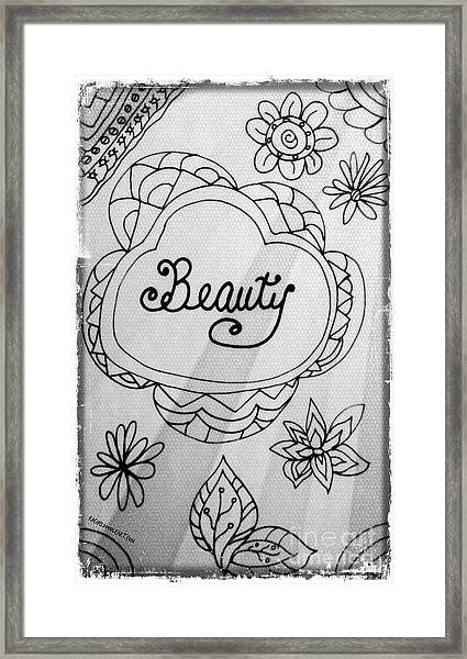 Framed Print featuring the drawing Beauty by Rachel Maynard