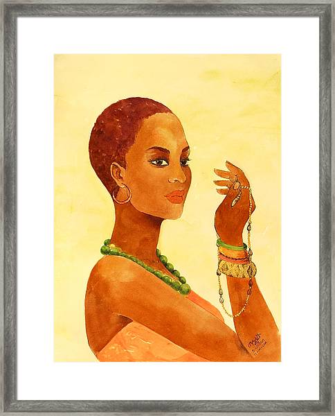 Beauty Stance Framed Print