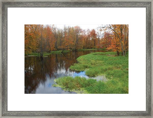 Beaver River Colors Framed Print