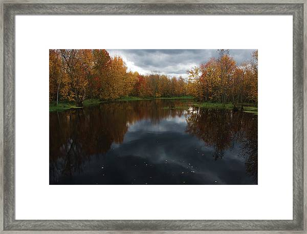 Beaver River Dramatic Framed Print