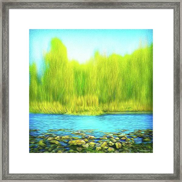 Beckoning Woods Framed Print
