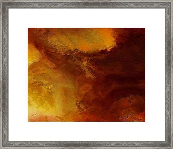 Becoming - Abstract Art - Triptych 3 Of 3 Framed Print
